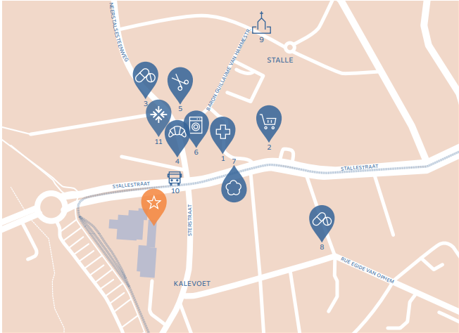 Kaart Project Village Etoile Ukkel